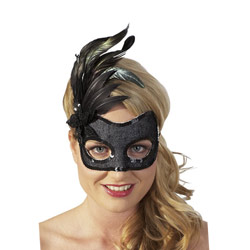 Black sequined mask