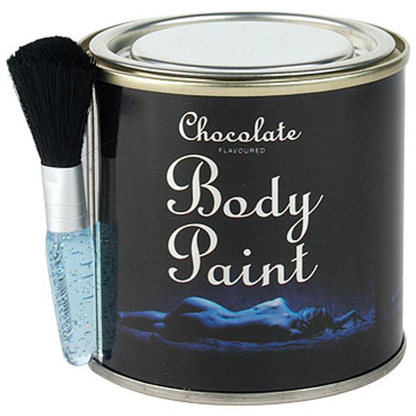 Chocolate Body Paint Tin And Brush